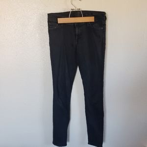 7 for All Mankind Black HR Skinny Jeans